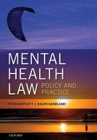 Mental Health Law  Policy and Practice PDF