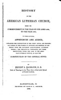 History of the American Lutheran Church PDF