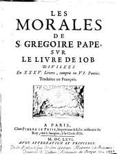 Les Morales ... sur le livre de Job: Volume1
