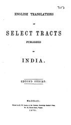 English Translations of Select Tracts Published in India PDF