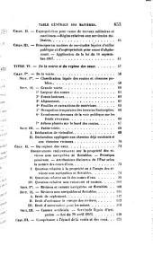 Cours théorique et pratique de droit public et administratif mis en rapport avec la constitution de 1852, les lois organiques de l'empire, la législation et la jurisprudence, nouvelles sur le Conseil d'État, la Cour des comptes, l'enseignement, les impôts, le contentieux, etc., etc