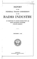 Report of the Federal Trade Commission on the Radio Industry PDF