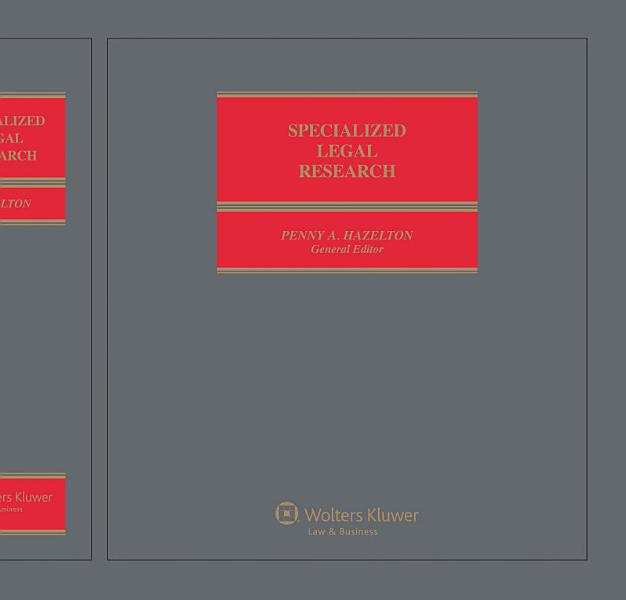 Download Specialized Legal Research Book