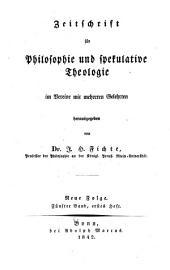 Zeitschrift für Philosophie und spekulative Theologie: Band 9