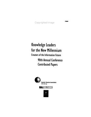 Knowledge Leaders for the New Millennium PDF