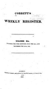 Cobbett's Political Register: Volume 40