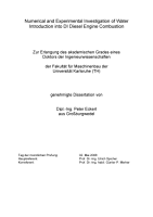 Numerical and Experimental Investigation of Water Introduction Into DI Diesel Engine Combustion PDF