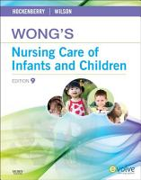 Bopod Wong S Nursing Care Of Infants And Children