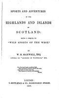 Sports and Adventures in the Highlands and Islands of Scotland PDF