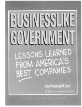 Businesslike Government: Lessons Learned from America's Best Companies