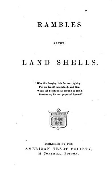Download Rambles After Land Shells Book