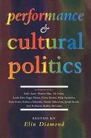 Performance and Cultural Politics PDF