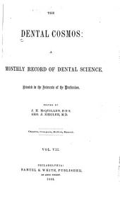 The Dental Cosmos: Volume 7
