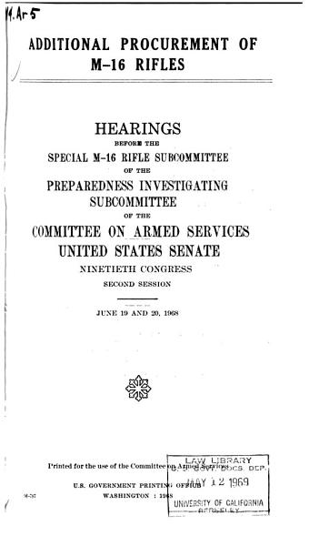 Hearings  Reports and Prints of the Senate Committee on Armed Services