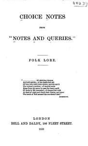 Choice Notes from  Notes and Queries    Folk lore PDF