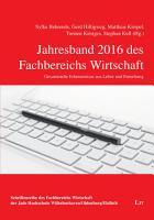 Jahresband 2016 des Fachbereichs Wirtschaft PDF