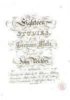 Eighteen Studies for the German Flute  Op  2 PDF