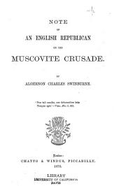 Note of an English Republican on the Muscovite Crusade