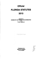 Official Florida Statutes PDF