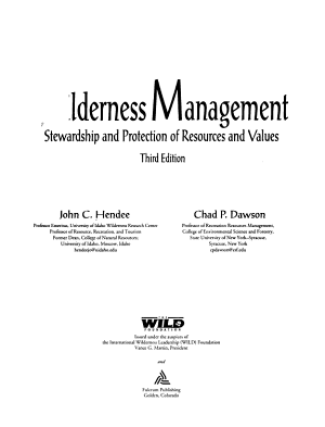 Wilderness Management PDF