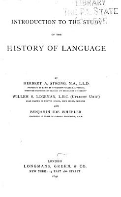 Introduction to the Study of the History of Language PDF