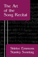 The Art of the Song Recital PDF