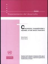 Crecimiento, competitividad y equidad: rol del sector financiero