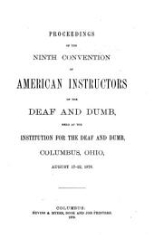 Report of the Proceedings of the ... Meeting of the Convention of American Instructors of the Deaf