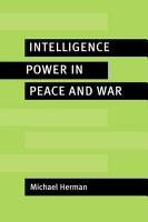 Intelligence Power in Peace and War PDF