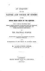 An Inquiry Into the Nature and Course of Storms in the Indian Ocean South of the Equator