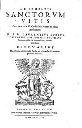De Probatis Sanctorvm Vitis: Febrvarivs, Volume 2
