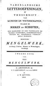 Vaderlandsche letter-oefeningen of tijdschrift van kunsten en wetenschappen: Volume 2
