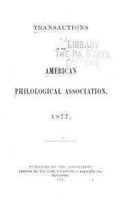 Transactions of the American Philological Association PDF