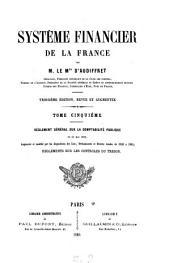 Système financier de la France: Volume5