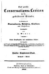 Das grosse Conversations-Lexicon für die gebildeten Stände: Supplement