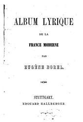Album lyrique de la France moderne
