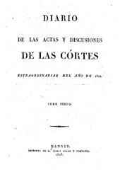 Diario de las actas y discusiones de las Cortes: Volume 6