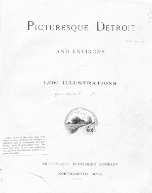 Picturesque Detroit and Environs PDF