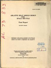 Ablative Heat Shield Design for Space Shuttle PDF