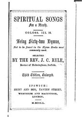 Spiritual Songs for a Month ... Third edition, enlarged