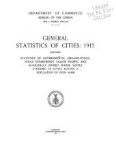 General statistics of cities: 1909-16