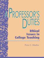 A Professor s Duties PDF