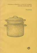 National & Regional Styles of Cookery