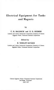 Electrical Equipment for Tanks and Magnets PDF