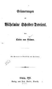 Erinnerungen an Wilhelmine Schröder-Devrient