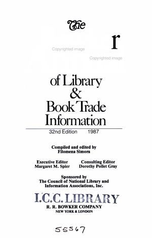The Bowker Annual Library and Book Trade Almanac 1987 PDF