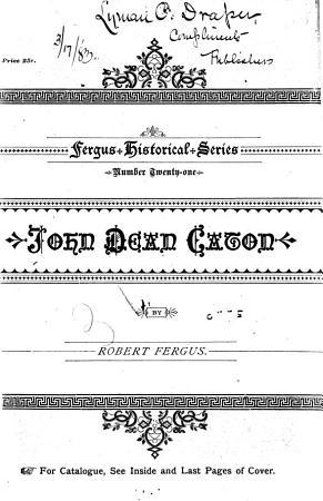 Fergus  Historical Series PDF