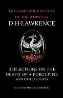 Reflections on the Death of a Porcupine and Other Essays PDF