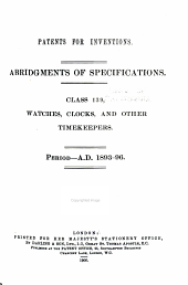 Patents for Inventions. Abridgments of Specifications: Volume 25