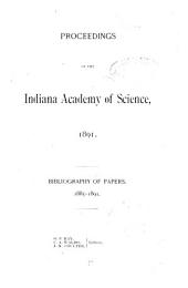 Proceedings of the Indiana Academy of Science: Volume 1